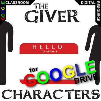 THE GIVER Characters Organizer (Created for Digital)