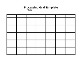 GLAD Processing Grid Template
