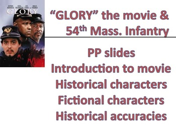 GLORY - Mass 54th PPTs - introduction to movie & historica