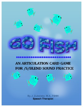 GO FISH Articulation Card Game for /S/ BLEND Practice- Spe