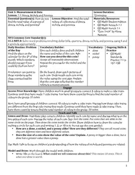 GO Math Chapter 7 Lesson Plans, Grade 2
