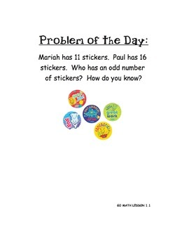 GO MATH Chapter 1 Problem of the Day (2nd grade)