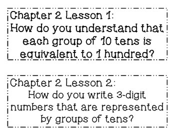 GO MATH! Grade 2 Chapter 2 Essential Questions