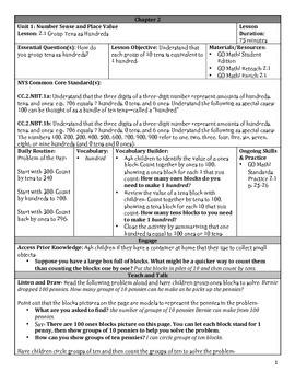 GO Math Chapter 2 Lesson Plans, Grade 2