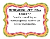 GO Math Grade 4 Journal of the Day Chapter 7 Posters