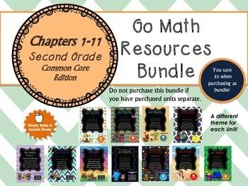 GO Math Second Grade Common Core BUNDLE!