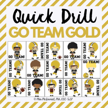 GO TEAM Quick Drill - Black & Gold {for articulation or fl