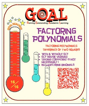 GOAL NO PREP - Factoring Poly - Difference of 2 Squares &