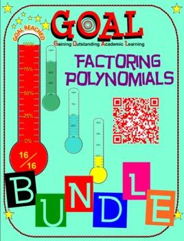 GOAL NO PREP - BUNDLE Factoring Poly (6 activities + 6 Qui