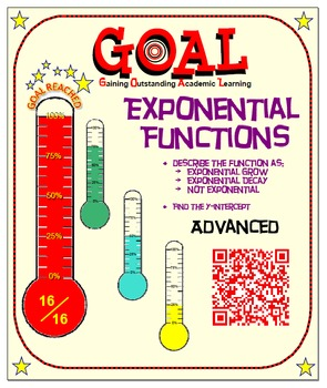 GOAL NO PREP - Exponential Growth, Decay, (ADVANCED) & Qui