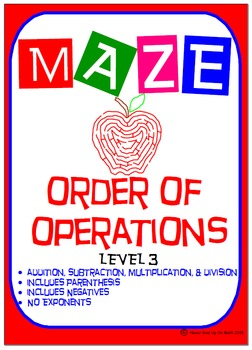 Maze - Order of Operations - Level 3