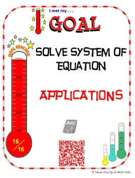 "GOAL NO PREP - Solve System of equation ""APPLICATIONS"" & Q"