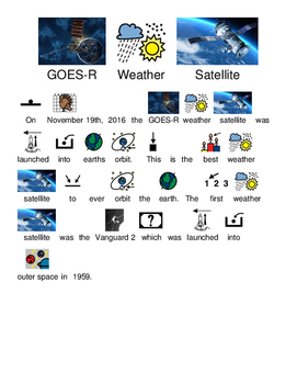 GOES-R Weather Satellite Launched - Picture supported text
