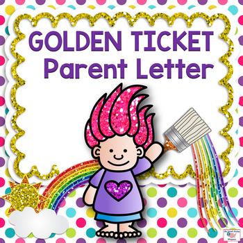 GOLDEN TICKET Program Letter for Parents