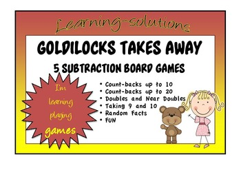 NUMBER FACTS - GOLDILOCKS TAKES AWAY - 5 Board Games to te
