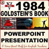 1984 GOLDSTEIN'S BOOK  Dynamic and Vibrant Powerpoint REVI