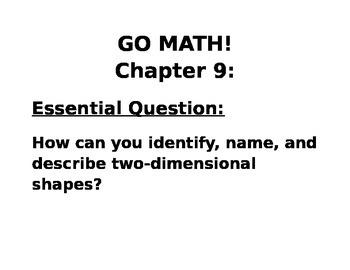 GOMATH CHAPTER 9 ESSENTIAL QUESTIONS- KINDERGARTEN