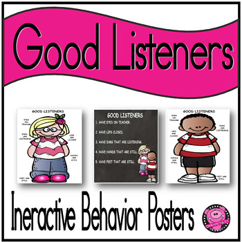 GROWTH MINDSET LISTENING POSTERS  and BULLETIN BOARD DISPL