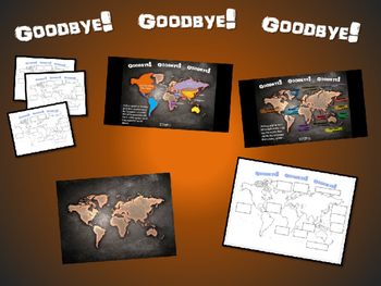 GOODBYE! in 12 languages: Fun, Interactive 40-slide PPT wi
