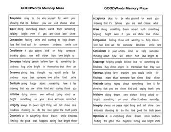 GOODWords Memory Maze
