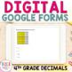 GOOGLE FORM Bundle for Decimals as tenths and hundredths