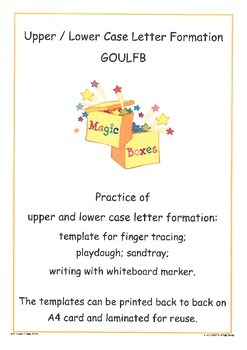 GOULFB Letter Formation Cards
