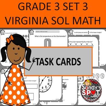 GRADE 3 VIRGINIA SOL MATH TASK CARDS SET 3