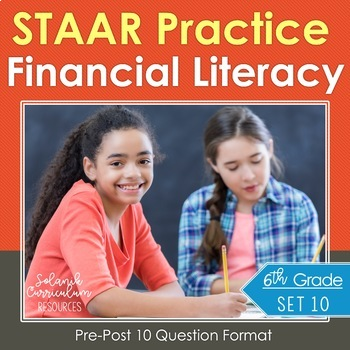 Grade 6 Math STAAR Test Practice {FINANCIAL LITERACY} Cred