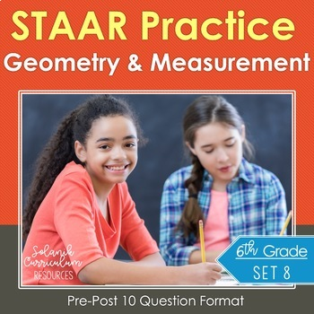 6th Grade Math  Test Prep {Geometry & Measurement} Pre/Pos