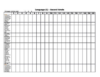 GRADEBOOK & ASSESSMENT TRACKING 2nd Grade Common Core Chec