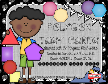 GRADES 3 & 4 VIRGINIA SOL MATH TASK CARDS POLYGONS