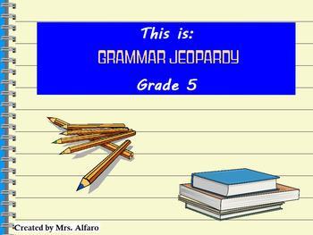 GRAMMAR JEOPARDY GAME FLIPCHART PROMETHEAN GRADE 5 ~ NOUNS