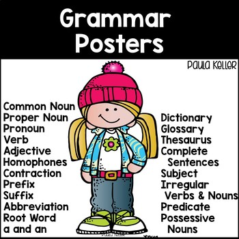 GRAMMAR POSTERS for the year!