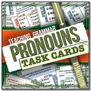 [GRAMMAR] Pronouns TASK CARDS
