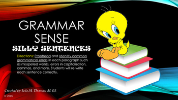 GRAMMAR SENSE (BASIC PROOFREADING PRACTICE)