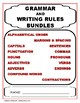 GRAMMAR and WRITING RULES BUNDLE!