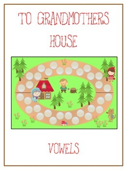 GRANDMOTHER'S HOUSE Vowels- ELA First Grade Folder Game -