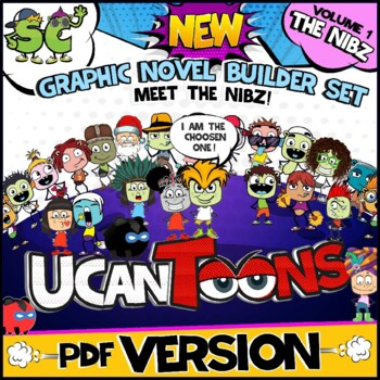 **NEW** GRAPHIC NOVEL BUILDER | COMIC STRIP TEMPLATE | CRE