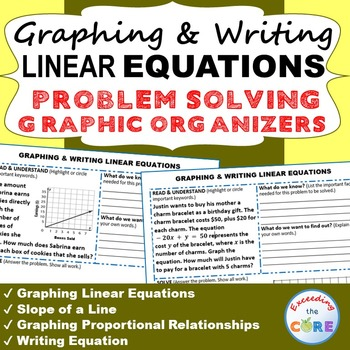 GRAPHING & WRITING LINEAR EQUATIONS Word Problems with Gra