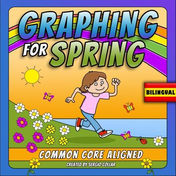 GRAPHING for SPRING - BILINGUAL - Common Core Aligned 1.MD