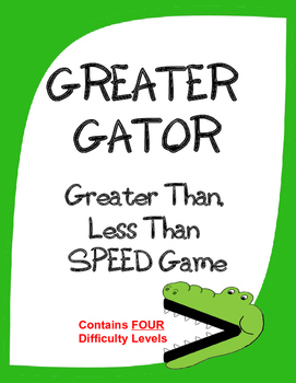 GREATER GATOR:  A Game of Greater Than, Less Than, Equal -