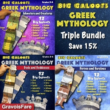 GREEK MYTHOLOGY *TRIPLE* BUNDLE: Gods, Heroes, and Monster