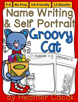 GROOVY CAT Monthly Self Portrait & Handwriting Assessment