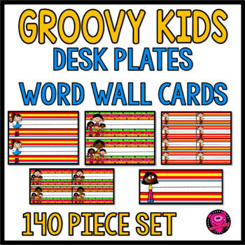 KID THEME NAMES PLATES FOR THE WHOLE SCHOOL YEAR