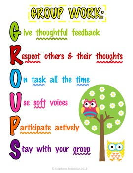 GROUPS Poster Acronym for groupwork