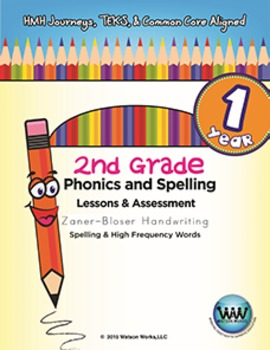 BUNDLE: 2nd Grade Watson Works Phonics & Spelling Zaner-Bl