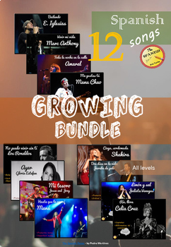 GROWING BUNDLE: All Spanish songs in my store (All levels)