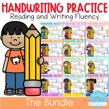 Handwriting Practice All Year (THE BUNDLE) by Teaching Biilfizzcend