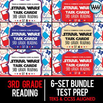 BUNDLE - STAAR WARS 3rd Grade Reading Task Cards ~ SETS 1-6