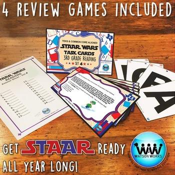 BUNDLE - STAAR WARS 3rd Grade Reading Task Cards ~ SETS 4-6